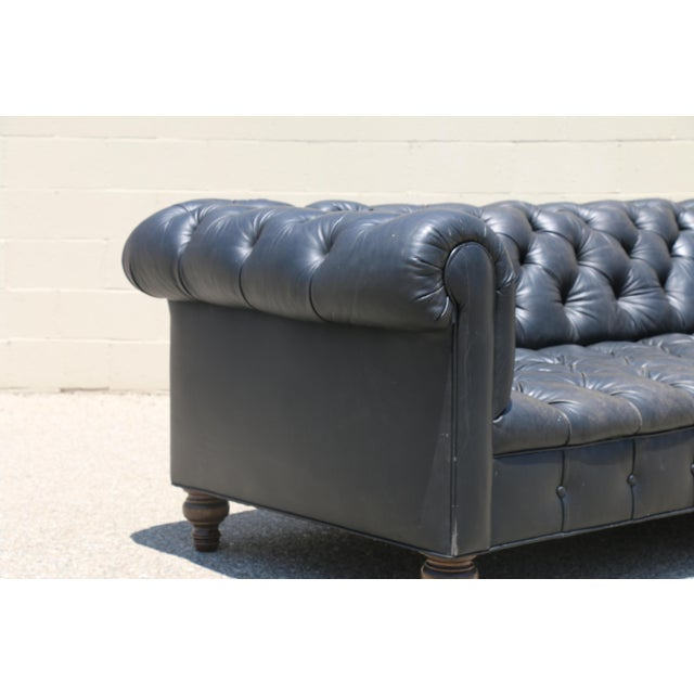 Black Tufted Chesterfield Sofa - Image 5 of 11