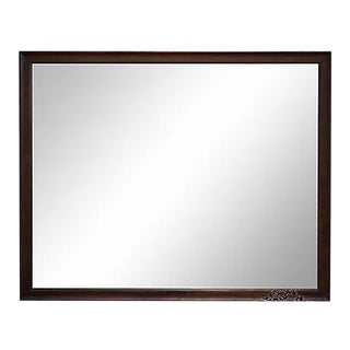 Drexel Mid Century Modern Walnut Frame Rectangular Mirror For Sale