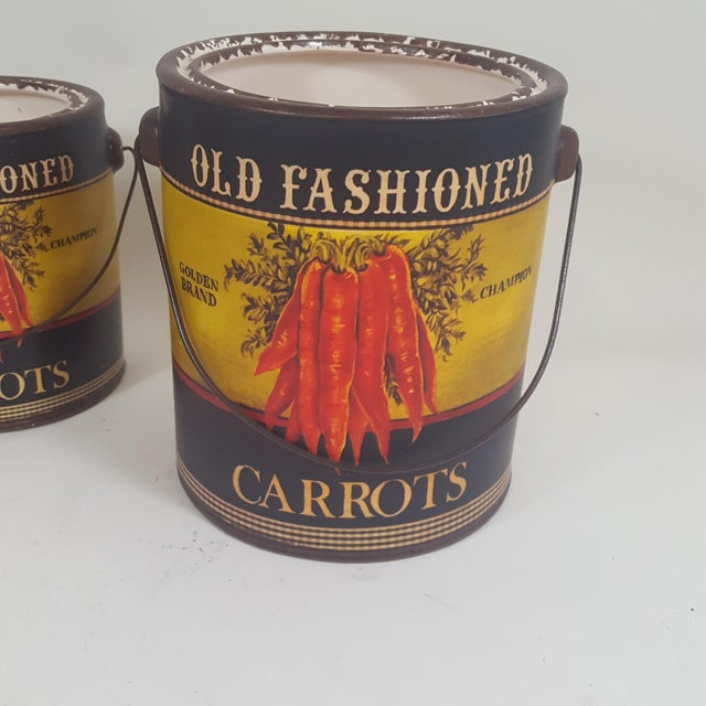 Americana Carrot Canister Containers - Set of 3 For Sale - Image 3 of 8