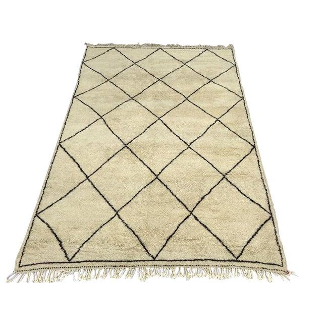 "Harlequin Moroccan Handmade Wool Rug - 10'9"" x 7'2"" - Image 1 of 4"