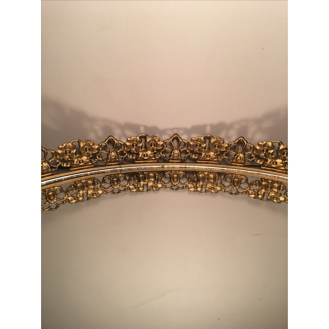 Floral Gilded Mirrored Vanity Tray - Image 5 of 6