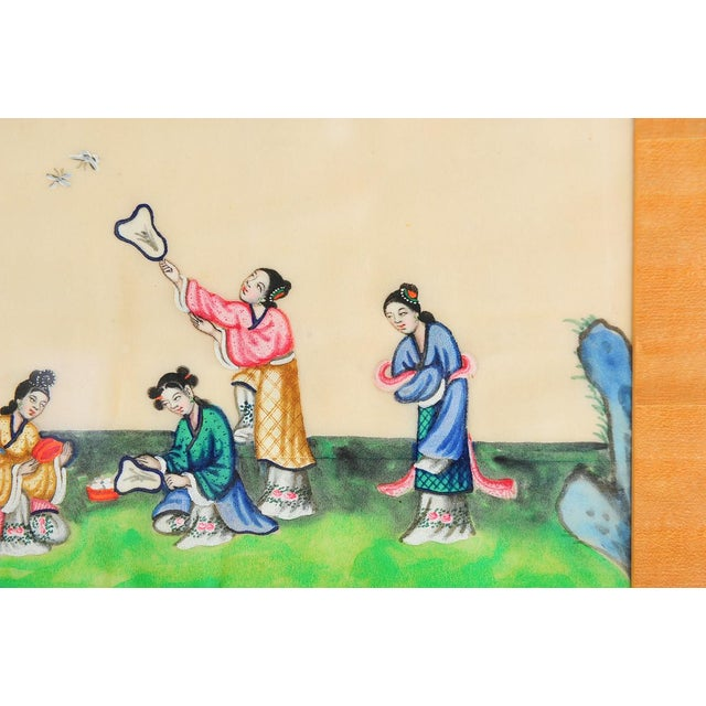 Chinese Chinese Antique Rice Paper Painting For Sale - Image 3 of 7