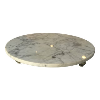 1960s Italian Marble Cake Stand For Sale