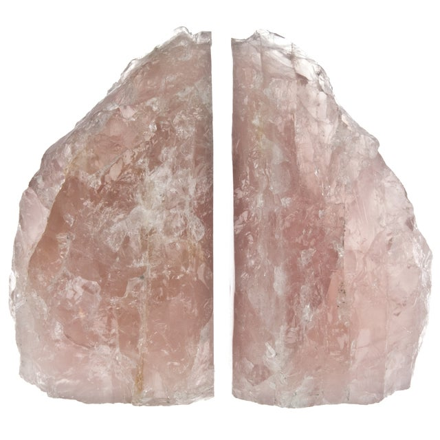 Rose Quartz Bookends - Pair - Image 1 of 4