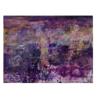 "1990s ""Gentle Vision"" Abstract Expressionist Painting by Ellen Reinkraut For Sale"