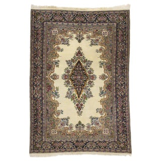 20th Century French Victorian Style Kerman Rug - 4′11″ × 7′2″ For Sale
