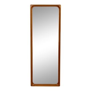 1950s Markaryd Scandinavian Mid-Century Modern Rectangular Teak Wood Wall Mirror For Sale