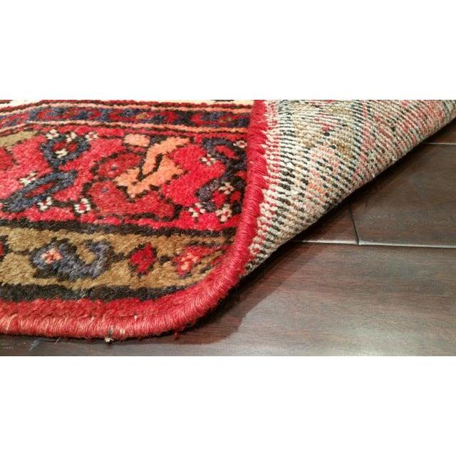 Vintage 10 Ft Persian Heriz Karadja Hand Knotted Runner