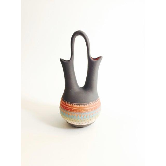 Vintage Navajo Pottery Wedding Vase - Image 3 of 7