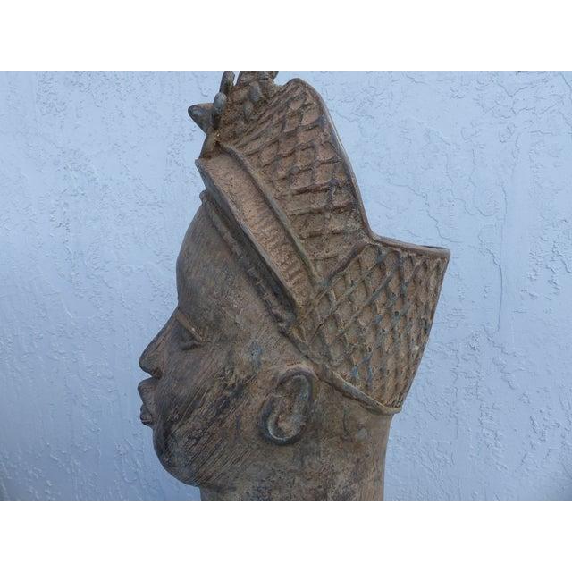 Bronze Head of an Ife Queen Mother - Image 6 of 9