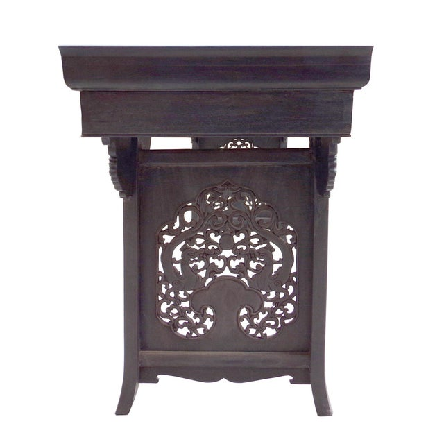 Rosewood Dragon Carving Altar Console For Sale - Image 4 of 8