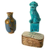 Image of Antique Chinese Blue Miniatures - Set of 3 For Sale