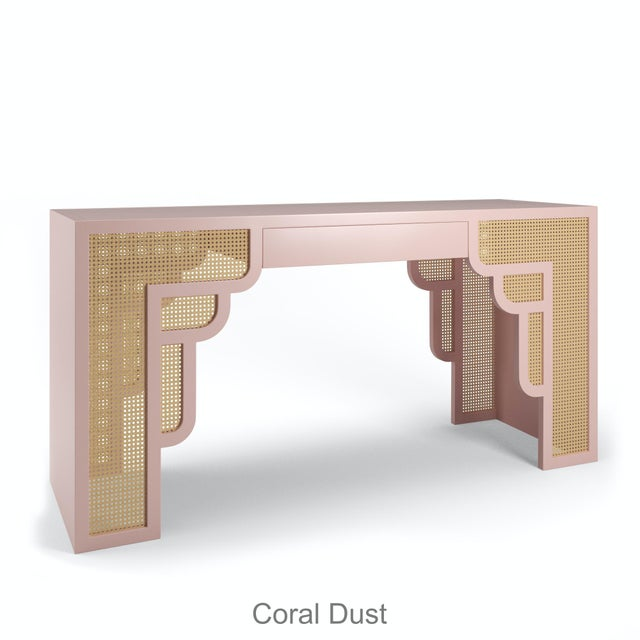 Not Yet Made - Made To Order Habanera Console Table - Coral Dust For Sale - Image 5 of 5