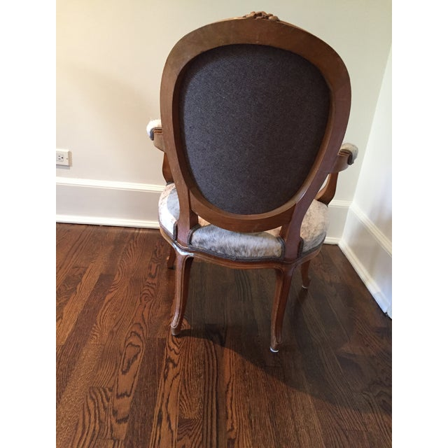 """French Hide Upholstered """"Hers"""" Bergere Chair For Sale - Image 4 of 9"""