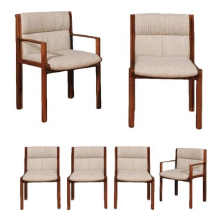 Exceptionally Rare Set of Six Dining Chairs by Saladino for Baker, circa 1985 For Sale