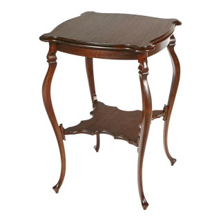 Early 1900s Cabriole Leg Side Table For Sale