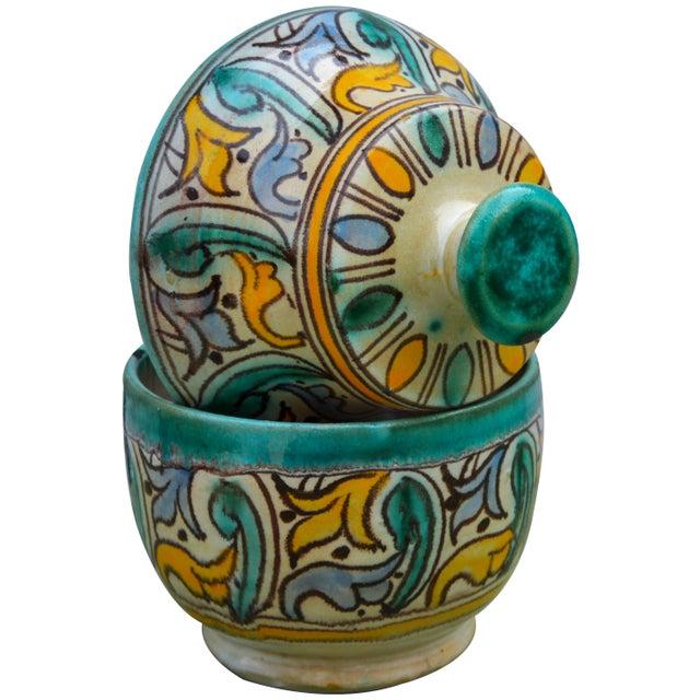 Ceramic Antique Moorish Ceramic Box For Sale - Image 7 of 11