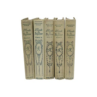 Vintage French Alexander Dumas Books - Set of 5 For Sale