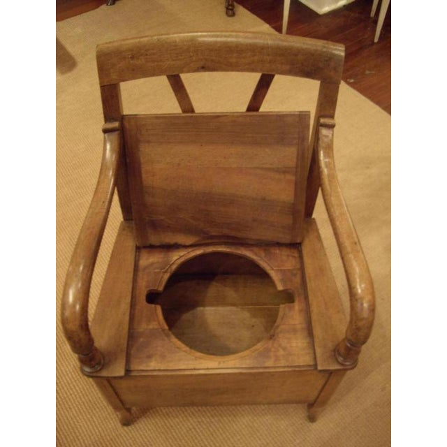 19th C. French Walnut Potty Chair For Sale In New Orleans - Image 6 of 8