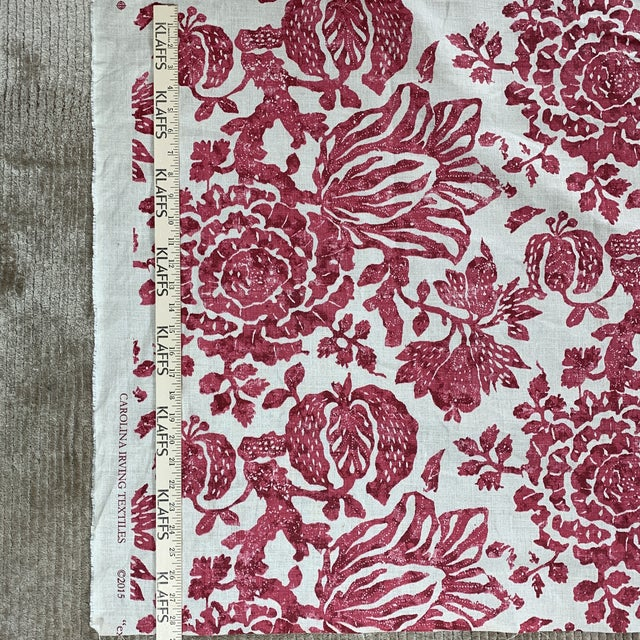 2010s Carolina Irving Exotic Bloom Fabric For Sale - Image 5 of 5