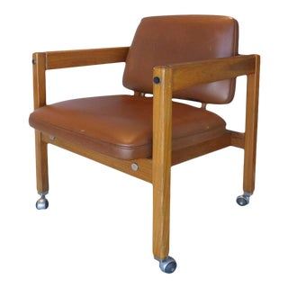1960s Brazilian Teak Wood Armchair by Sergio Rodigues For Sale