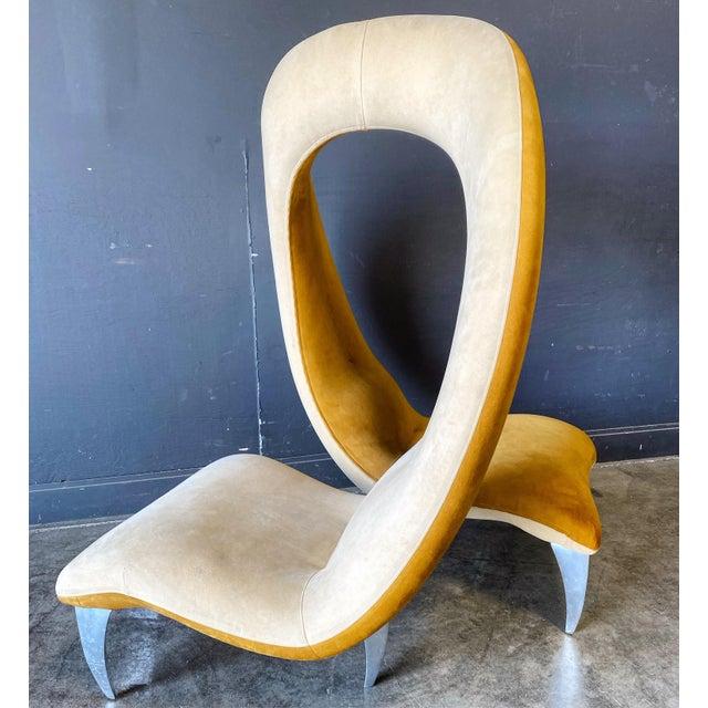 1990s Post Modern Hank Vu Flamenco Tête-à-Tête Chair For Sale - Image 9 of 9