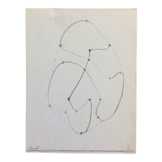 Thought Drawing by James Bone 1960s For Sale