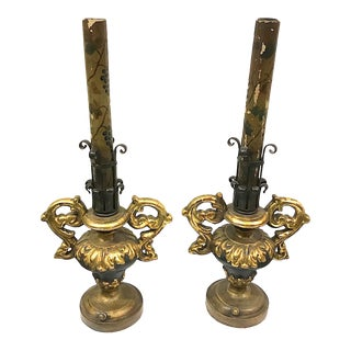 1930s Venetian Styled Lamps - a Pair For Sale