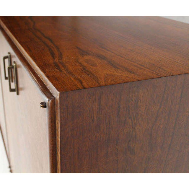 Brown Mid-Century Modern Walnut Dresser Credenza w/ Multiple Compartments and Drawers For Sale - Image 8 of 9