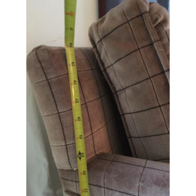 Mid-Century Modern 1970s Vintage Parsons Style Arm Chairs- A Pair For Sale - Image 3 of 13