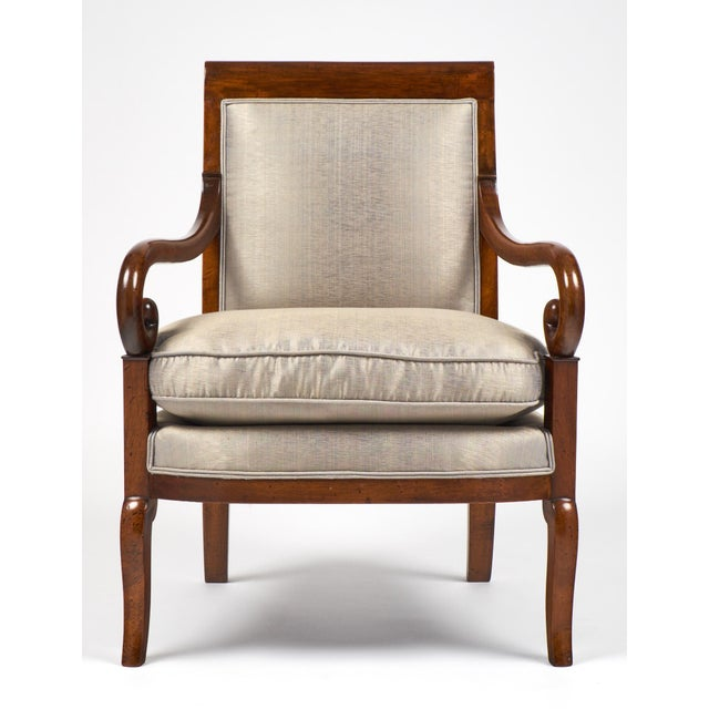 19th Century French Restauration Period Walnut Armchair - Image 4 of 11