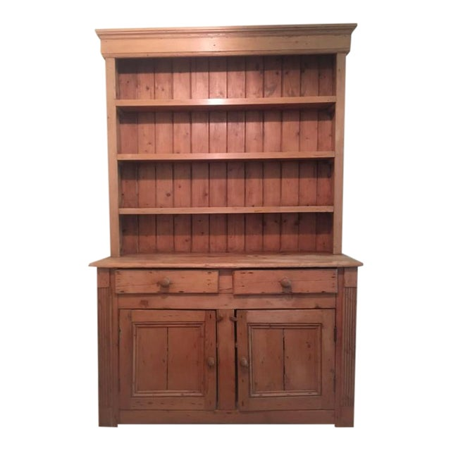 Antique English White Pine Hutch Cabinet For Sale - Antique English White Pine Hutch Cabinet Chairish
