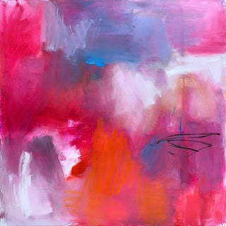 """""""Heat Wave"""" by Trixie Pitts Larg Abstract Expressionist Oil Painting For Sale"""