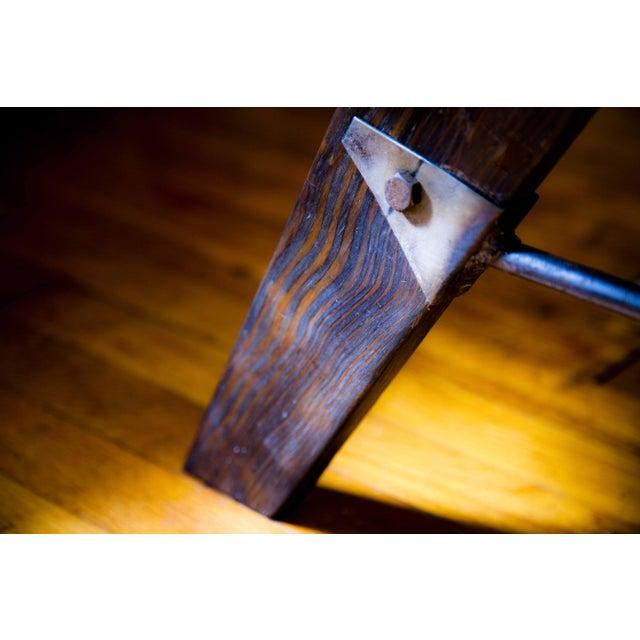 Mid-Century Reclaimed Wood Surfboard Coffee Table - Image 9 of 11
