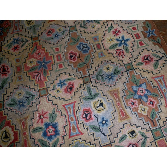"1900s Antique American Hooked Rug- 6' x 8'10"" For Sale In New York - Image 6 of 8"