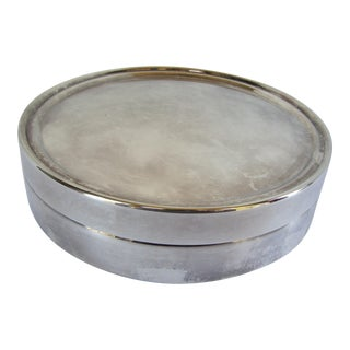 Round Reed & Barton Silver-Plate Box For Sale