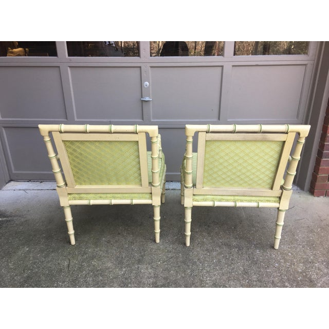 1960s Vintage Faux Bamboo Chippendale Chairs A Pair Chairish