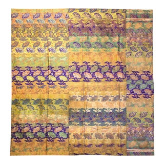 Vintage Japanese Brocade Fabric For Sale