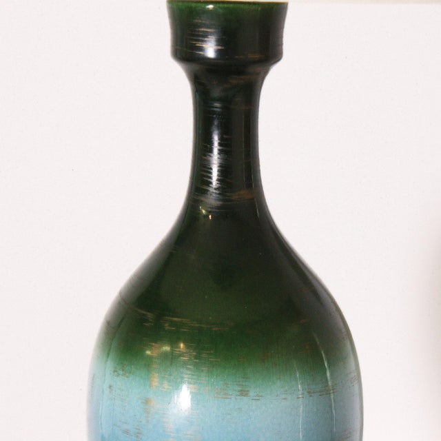 Ombre Glaze Urn Lamp, C. 1960 For Sale In Dallas - Image 6 of 8