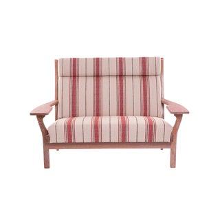 Hans Wegner Cerused Oak Paddle Arm Sofa For Sale