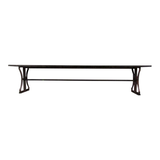 Industrial Modern Iron Bench For Sale