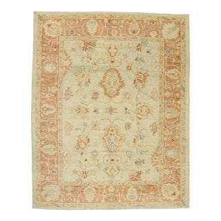 Contemporary Turkish Oushak Rug - 11'01 X 13'11 For Sale