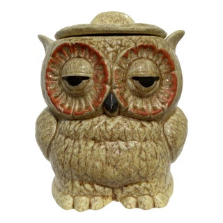 Mid-Century Owl-Form Cookie Jar For Sale
