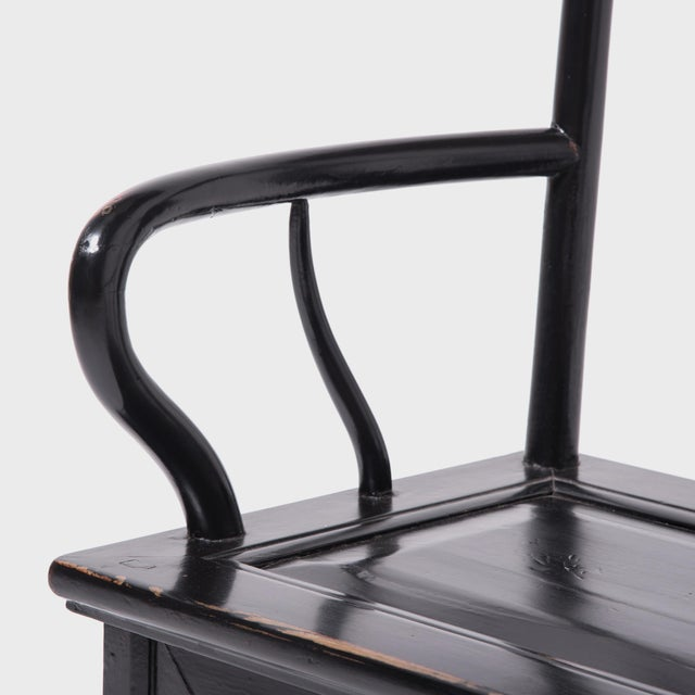 Wood Chinese Black Guanmaoyi Chair For Sale - Image 7 of 8