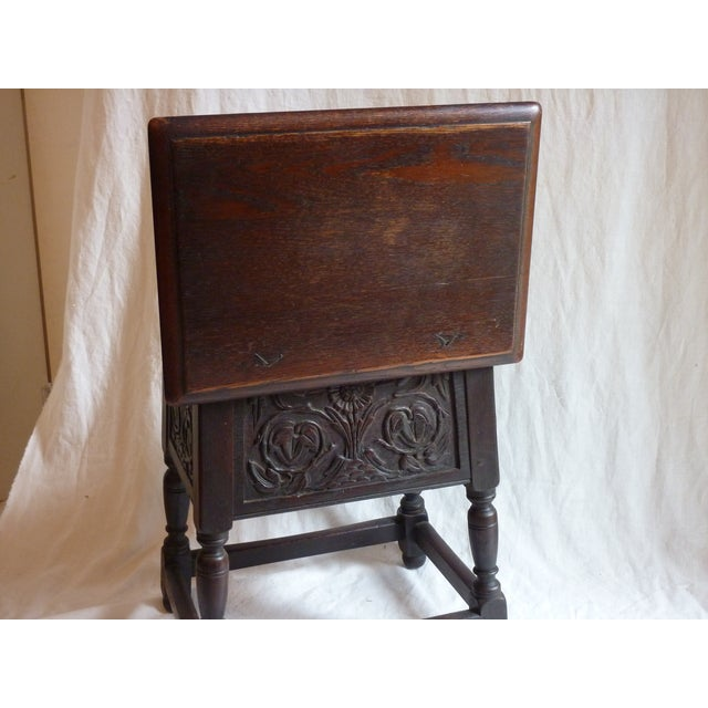 18th Century English Carved Oak Joint Stool - Image 5 of 6