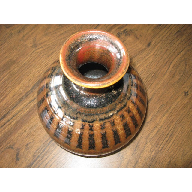 Mid-Century Modern 1976 Mid-Century Pottery Vase For Sale - Image 3 of 11
