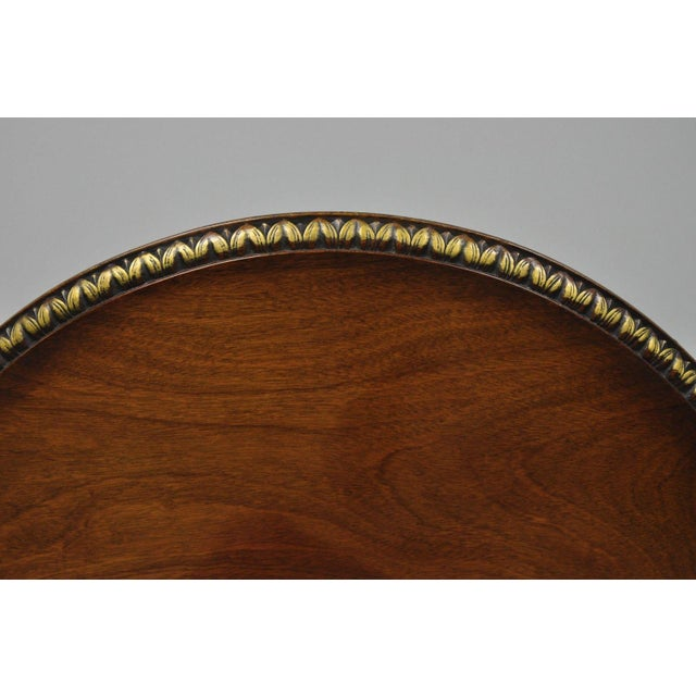 Chippendale Chippendale Style Mahogany Pie Crust Tilt Top Tea Table with Ball and Claw Feet For Sale - Image 3 of 13