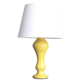 "Yellow Crackle Finish ""Arnie"" Lamp"