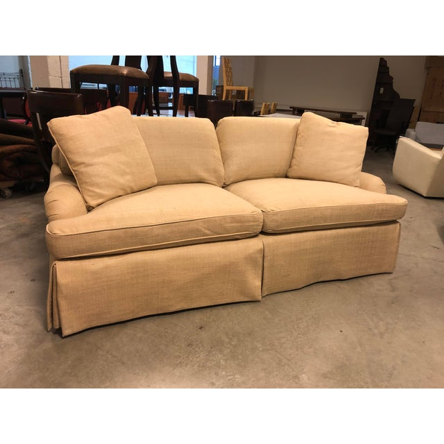 Traditional Century Furniture English Arm Sofa in Honey Silk For Sale - Image 3 of 7
