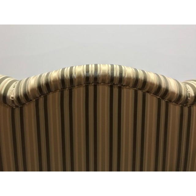 Baker Roll Arm Sofa in Cut Velvet For Sale - Image 10 of 13
